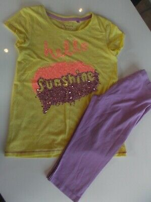 **Next**  Girls Fabulous Outfit T Shirt And Leggings Aged 11 Years Sequin Etc