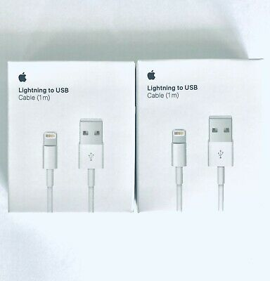 NEW 2 Pack Apple iPhone 11 X 8,7,6 Original OEM Lightning USB Charger Cable 3ft