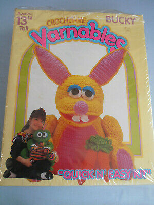 """Yarnables """"Crochet me"""" Bucky Wool Kit - 33cm tall - In Box With Instructions"""