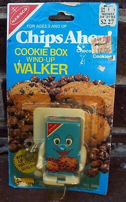 Nabisco Chips Ahoy Cookie Box Wind Up Walker Talbot Toy 1984 80s Rare Vtg Promo