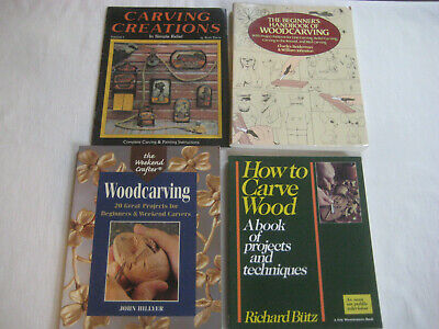 Book LOT B Whittling Wood Carving 4 techniques patterns Butz Beiderman Hillyer
