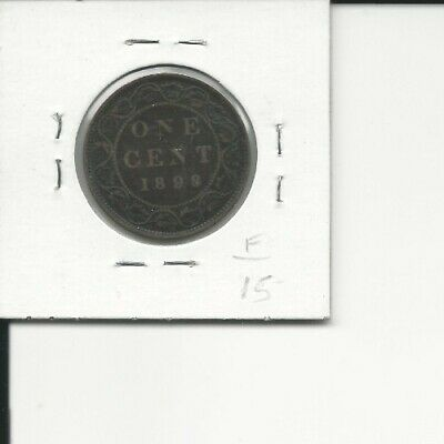 1898H Canada Large Cent Large 1 Cent Penny Fine Coin!!!