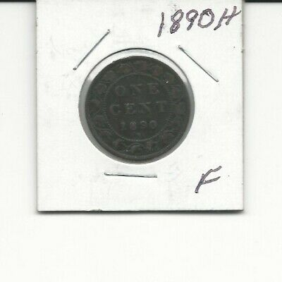 1890 H Canada One 1 Cent Victoria Large Penny Coin Fine Coin!