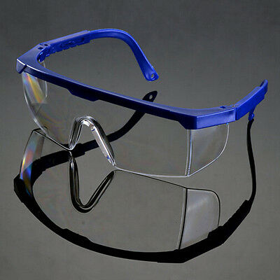 Actual Safety Eye Protection Clear Lens Goggles  Glasses From Lab Dust Paint _WD