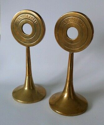 Brass Bronze Antique Victorian Edwardian Library Book Markers Props Paperweights