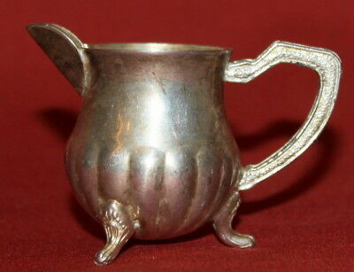 Vintage Handcrafted Decorative Silverplated Small Footed Milk Pitcher Creamer