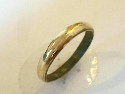 Unique Gifts,Detector Find & Polished,1300-1500 A.d Medieval Wedding Ring.