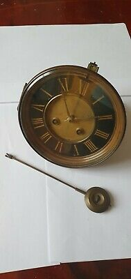 Nice 8 Day Antique French Striking Clock Movement By F. Marti,Paris