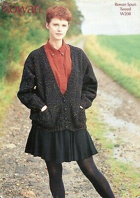 Rowan W208 Lady Cardigan Aran One Size Vintage Knitting Pattern