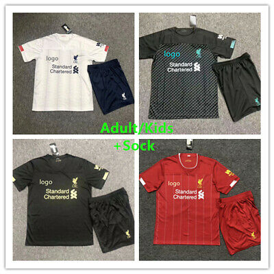 19/20 Football Kits Soccer Jersey Strips Adult/Kids Soccer Outfit +Sock UK Stock