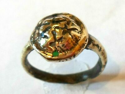 X-Mas Gifts,Detector Find & Polished,Medieval/Crusades Bronze Ring