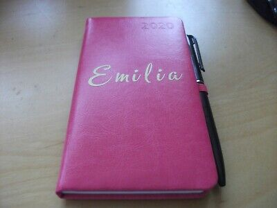 Personalised 2020 diary and pen