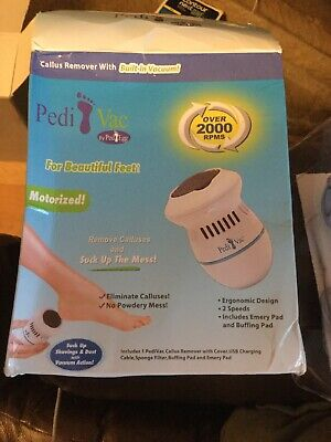 PEDI VAC REMOVER Rechargeable Electronic Foot Files Clean