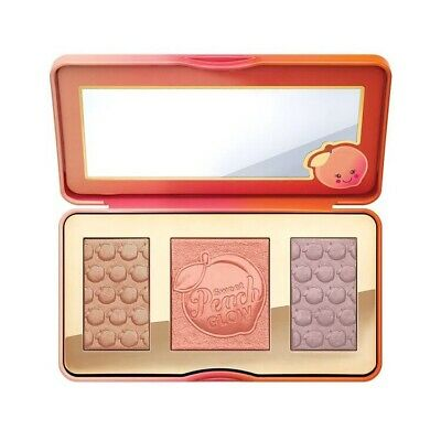 Too Faced Sweet Peach Glow Palette Blusher Bronzer Highlighter Uk Stock