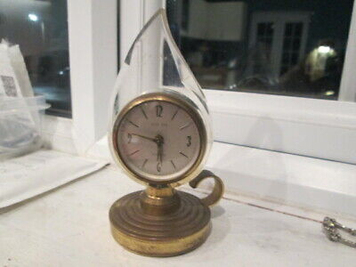 vintage unusual candle like clock europa
