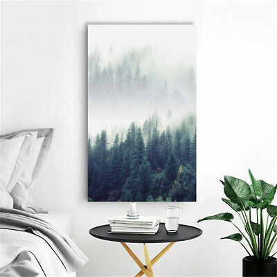 Modern Forest Landscape Wall Art Canvas Poster Prints Home Decoration