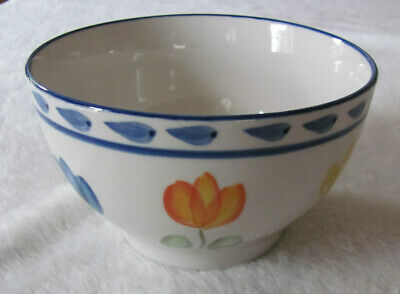 Montgomery Ward - Tulip - Multi-color Flowers - Soup/Cereal Bowl(s) - 8 Avail