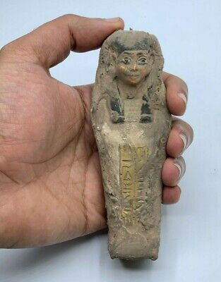 EGYPTIAN STATUE EGYPT ANTIQUES Gods Shabti Ushabti Small CARVED OLD STONE BC