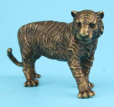 Unique Chinese Bronze Statue Tiger Solid Mascot Collection Gifts