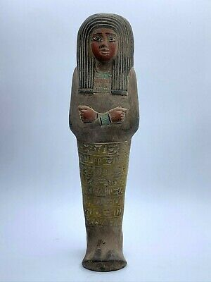 ANCIENT EGYPT Art EGYPTIAN ANTIQUES STATUE Shabti Mumia Ushabti Large Stone BC