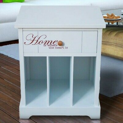 Drawer Table Bedroom Chest of Drawers White Lettering Wardrobe Hallway Big Light