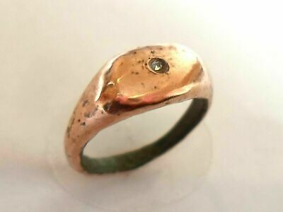 X-Mas Gifts,Detector Find,200-400 A.d Roman Ae Ring With Real Diamond,Polished