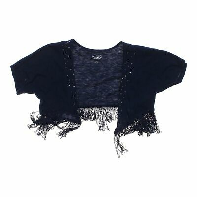 Justice Girls Shrug size 8,  blue/navy,  cotton