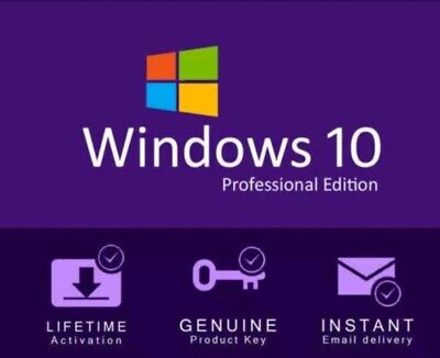 👨‍🔬📉Microsoft Windows 10 Pro 32/64bit Genuine Retail Key - Immediate Delivery