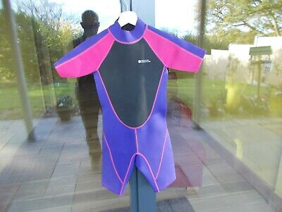 Kids Unisex Mountain Warehouse Mauve And Pink Zip-Up Wetsuit 9 - 10 Years Age