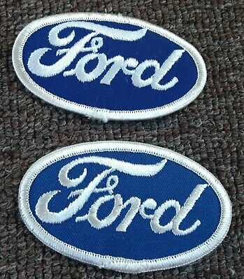 FORD LARGE CLOTH PATCH BACK SIZE BLUE HOT ROD F150 F250 F350 JACKET COVERALL