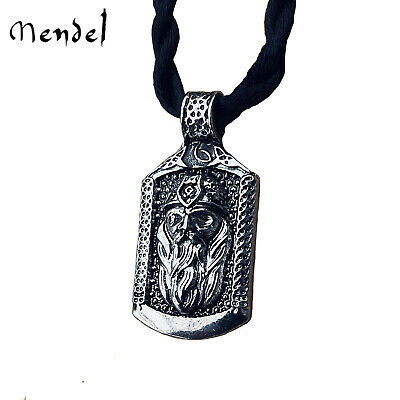 MENDEL Small Ancient Mens Norse Viking Amulet Odin God Pendant For Men Jewelry