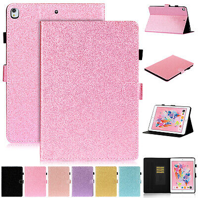 For Apple iPad 10.2 inch 2019 7th Generation Bling Leather Flip Case Stand Cover