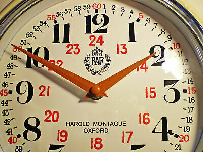 RAF Royal Air Force Wall Clock, WW2 1940 Bakelite Style Replica Clock.