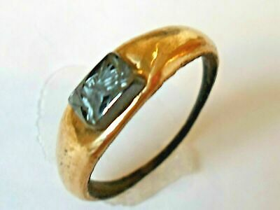 X-Mas Gifts,Detector Find,200-400 A.d Roman Bronze Ring With Intaglio. Polished