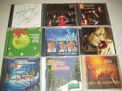 9 different Christmas CDS... a mix of everything..Only $5.00 for all (group # 9)