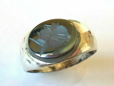 Christmas Gifts.detector Find,200-400 A.d Roman Silver Ring With Intaglio