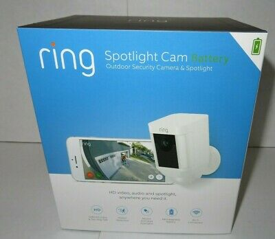 Ring Spotlight Cam Battery Outdoor Security Camera & Spotlight 7G-8SB1S7WEN NEW!