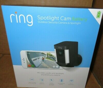 Ring Spotlight Cam Battery Outdoor Security Camera & Spotlight 8SB1S7-NENO NEW!