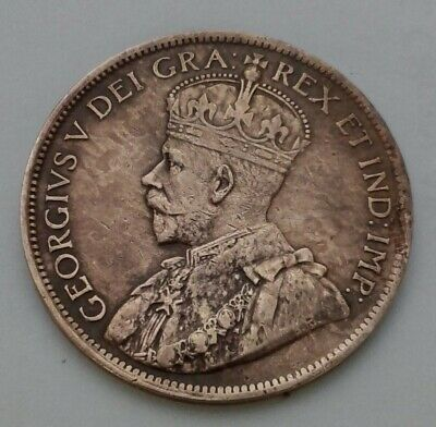 Canada 1 Cent 1917. KM#21. Bronze One Penny coin.  George V.