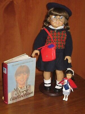 American Girl Molly/'s ACCESSORIES red purse hat FAST SHIP friend of Emily