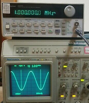 HP Agilent 33120A 15 MHz Function / Arbitrary Waveform Generator. Recent CAL!