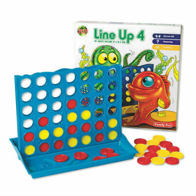 Line Up 4 Family Board Game Connect Four In A Row Kids Children Fun Simple Play