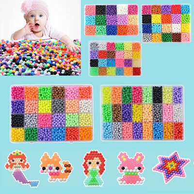 3200/5500 REFILL DIY Aquabeads Water Fuse Beads 24 SEPARATE Color Packing Gift