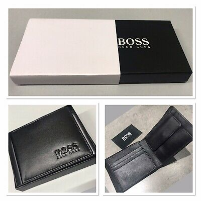 New Hugo Boss Genuine Leather Wallet Bank Card, ID Card, Cash & Coin Holder