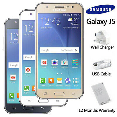 Factory Unlocked SAMSUNG Galaxy J5 J500F White Gold Black Dual SIM Android Phone