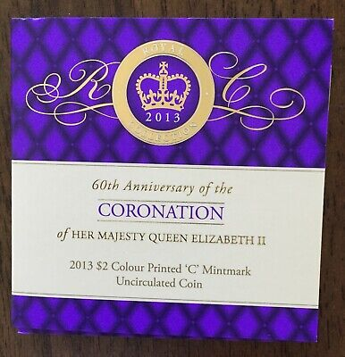 2013 60th ANNIVERSARY QUEEN ELIZABETH II CORONATION RAM $2.00 UNCIRCULATED COIN