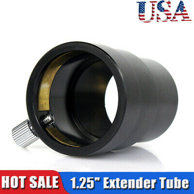 "1.25"" Extension Tube for Telescope Eyepieces+Brass Compression Ring US Free SHIP"