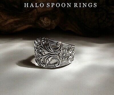 Spoon Ring Pretty Norwegian Silver Thorvald Marthinsen  A Perfect Christmas Gift