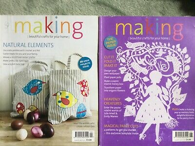 'Making' Magazines No 6 No 8 Memory Book Wallpaper Easter Dyed Eggs Weave Sewing