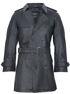 in cuoio leather coat Il generale tedesco Marrone Uomo Militare WW2 REAL grado 1
